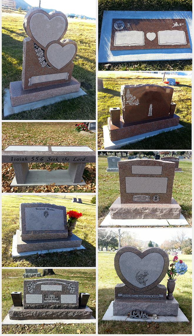 A sampling of headstones